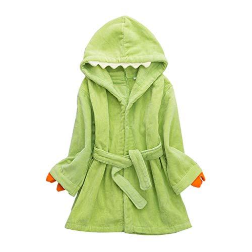 Peignoirs pour Enfants Sortie de bain à Capuchon Garçons Filles Peignoir Serviettes de Plage 3-7 Ans, Vert