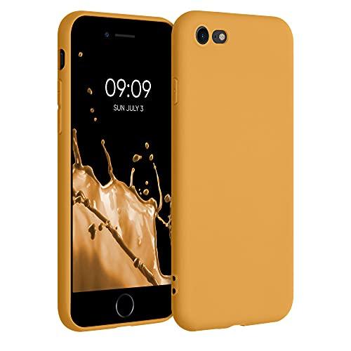 kwmobile Cover Compatibile con Apple iPhone 7/8 / SE (2020) - Cover Custodia in Silicone TPU - Backcover Protezione Posteriore- Calendula
