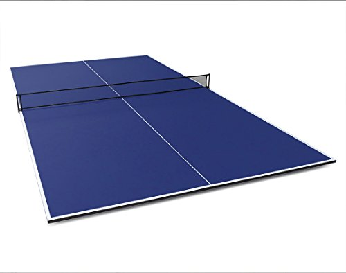 Best Buy! Fran_store Foldable Table Tennis Conversion Top with Foam Backing and Net Set- Full Sized ...