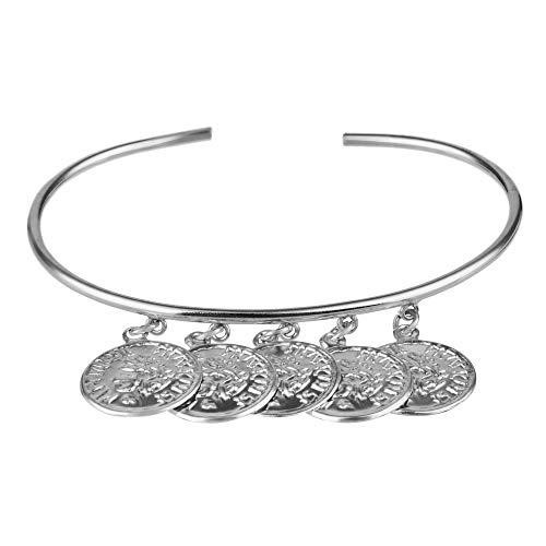 Córdoba Jewels |Pulsera en Plata de Ley 925 con diseño Brazalete Denarios Silver