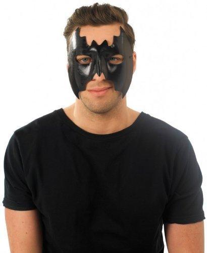 Masque d'Halloween chauve-souris Noir