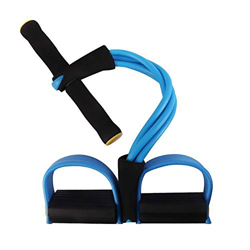 WANGYING Abdominal Trainer Situp Bodybuilding Expander Resistance Band Resistance Training Pull Rope Upgrade 3 Tubes for Fitness Training Purple Blue Pink Home Gym Slimming Training