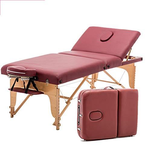 YIJIAHUI Tisch Tragbares Massagebett Spa-Bett Leichtes 3-Section tragbares Massagetisch Couch-Bett mit High Density Foam, gebaut in den Atmen Holeblack und Tragetasche Verstellbarer Salon Spa Tisch
