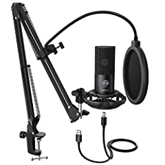 🎤【USB Output】Enables simple setup. USB Microphone Kit provide a direct convenient plug-and-play connection to Mac and Windows computers without any additional hardware for recording vocals, podcasts and Skype. It's never been easier to get high-quali...