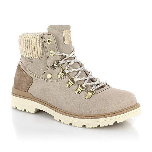 Buty śniegowe damskie, rozmiar 39, kremowe