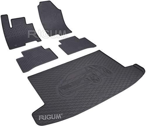 ilTappetoAuto by Fabbri 3 - Tappeti in Gomma Pieghevole su Misura per Abitacolo e Bagagliaio Compatibile con Hyundai Tucson 2021