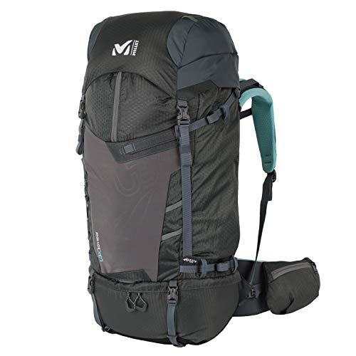 Millet – Ubic 50+10 W – Sac à Dos pour Femme – Randonnée, Ski de Randonnée et Trekking – Volume Extensible 50+10 L – Urban Chic/Aruba Blue (Kaki/Turquoise)