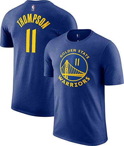 Outerstuff NBA Youth Performance Game Time Team Color Player Name and Number Jersey T-Shirt (Klay Thompson Golden State Warriors Blue, 10-12)