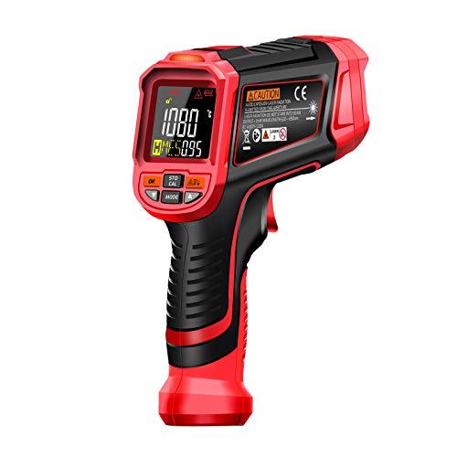 Termómetro infrarrojo Digital Láser -32~1680 ℃ KKmoon infrarrojo sin contacto Probador digital de temperatura de mano Pirómetro 50: 1 Pantalla LCD a color con retroiluminación Centígrados Fahrenheit