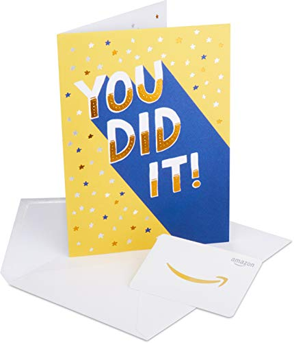 Amazon.com Gift Card in a Premium Greeting Card by American Greetings (Congratulations You Did It Design)