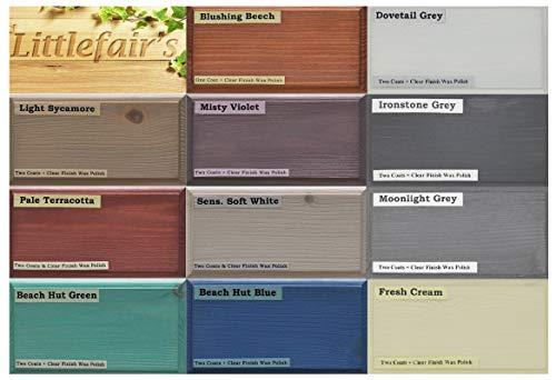 Teinture et vernis pour bois à base d'eau écologique Littlefair's- Gamme Pastel (Pot testeur, Kit de testeur)