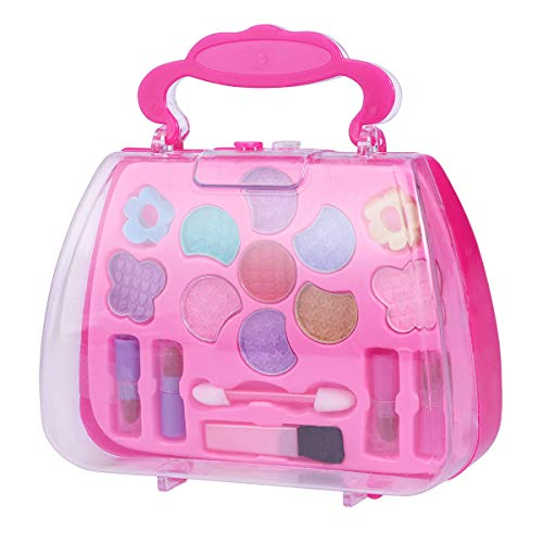 TOYMYTOY Caja de maquillaje Princess Pretend Traveling Makeup Kids Beauty Salon Cosmetic para niñas