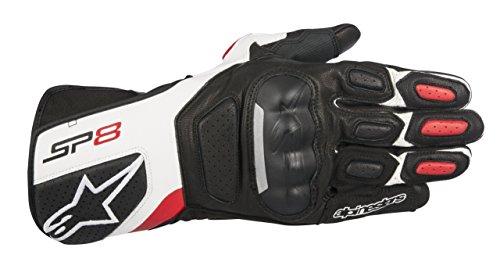 Alpinestars SP-8 v2 Handschuh schwarz/weiß/rot XL - Motorradhandschuhe