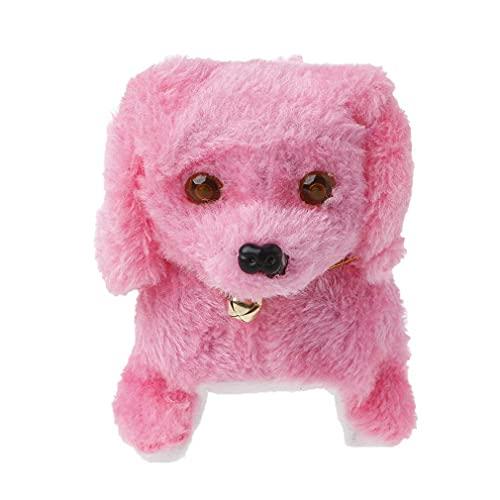 Elektronische pluche hond blaffen verlichting wandelen speelgoed realistische gevulde puppy roze