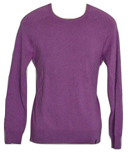 Calvin Klein Cotton Modal THULIAN Pink Sweater Crewneck Full Sleeves Men (L)