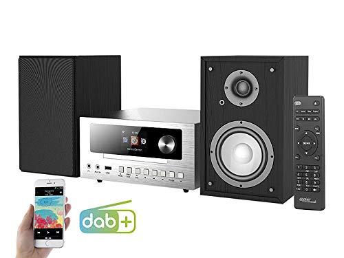 auvisio Kompaktanlage: Micro-Stereoanlage mit Webradio, DAB+, FM, CD, Bluetooth, USB, 100 W (Microanlage)