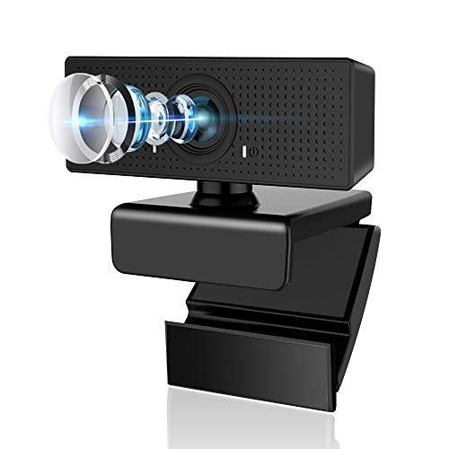 Webcam with Microphone, Admitrack 1080P HD Webcam Streaming Computer Web Camera with 110° Wide View Angle - USB Computer Camera for PC Laptop Desktop Video Calling Recording, Conferencing (Black)