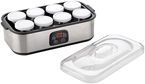 Rosenstein & Söhne Joghurtbereiter: Joghurt-Maker, Timer & Temperatur-Einstellung, 8 Gläser à 180 ml, 30 W (Joghurt Maschine)