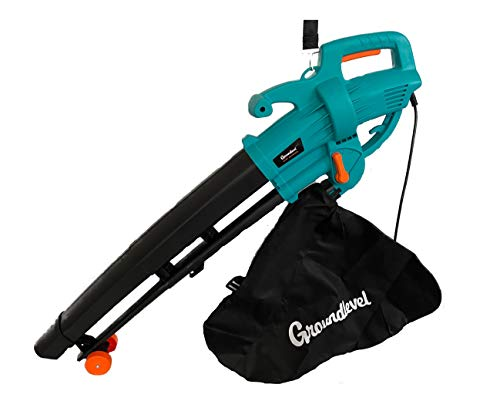 groundlevel Powerful 3000 Watt 2 in 1 Garden Leaf Blower/Vacuum With Harness And Wheels For Easy Use