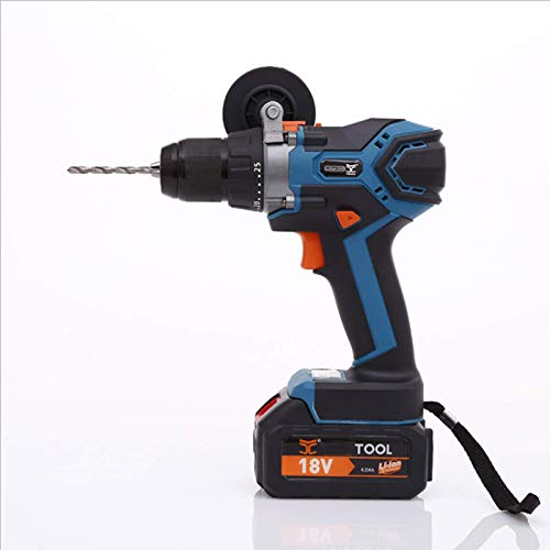 TXDWYF 18V Cordless Drill/Driver with Accessories, Driver Kit & Home Tool Kit, Lithium-Ion Compact Drill/Driver Kit,Blue