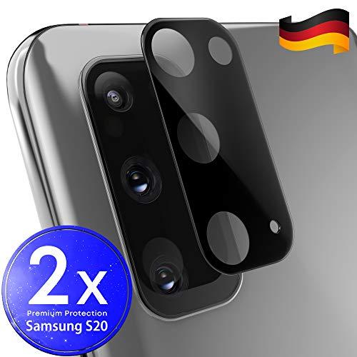 UTECTION 2X Kamera Glasfolie für Samsung Galaxy S20 - Einfache Anbringung, Anti Kratzer - Keine Beeinträchtigung von Blitz oder Sensoren - Kameraschutz Schutzglas - Glas Schutzfolie
