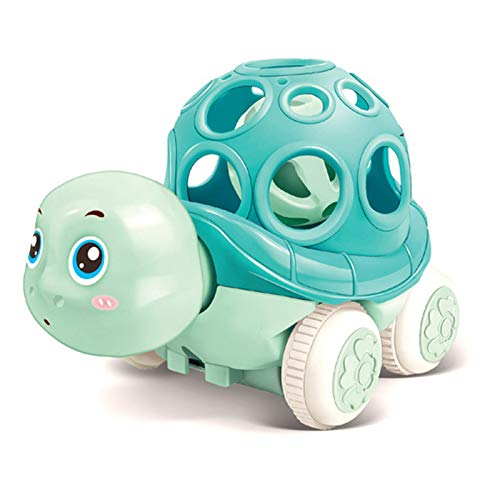 AHUA Pull Back Toy Cars for Toddlers Push and Go Inertial Soft Shell Turtle Toy Animal Friction Powered Car Toys Party Favors for Kids Gift for Boys Girls Age 1,2,3,4(Soft Shell Turtle-Blue)