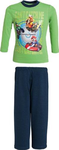 Schlafanzug Mario Kart Single-Jersey apfelgrün Größe 104