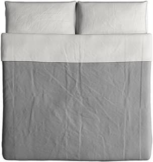 Ikea Blavinda King Duvet Cover Gray Bedding 003.280.45