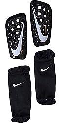 Nike Erwachsene Mercurial Lite Schienbeinschoner, Black/White, L/170-180 cm