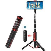 BlitzWolf Palo Selfie Trípode con Control Remoto Bluetooth, Selfie Stick Extensible de Aluminio para iPhone XS MAX/XR/XS/X/8/8P/7/7P/6, Galaxy S10/S9/S8, Android, Huawei, Xiaomi y etc.
