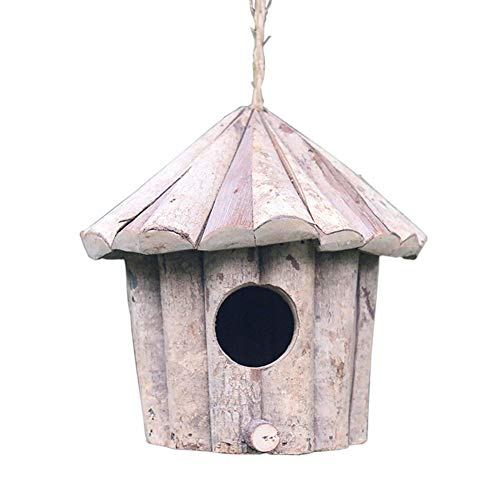 Orgrimmar Vintage Chickadee Bird House Nest Small Hanging Natural Wooden Garden Bird Nesting Box