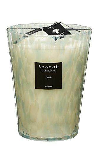 Baobab Kerzen, Glas, Creme, 24 x 10 cm