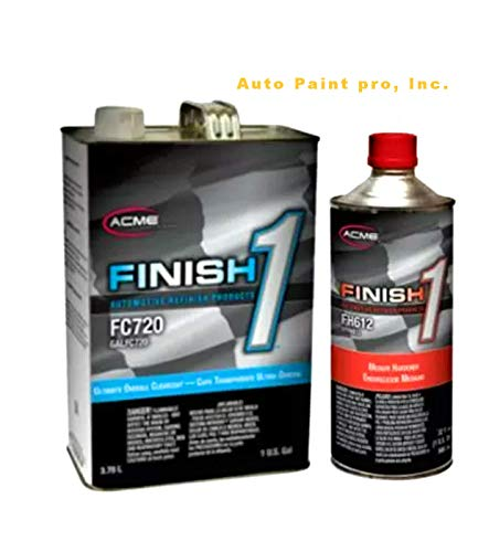 SHERWIN WILLIAMS Finish 1 Ultimate Overall Clearcoat, FC720, 1GAL /with Hardener (Hardener Slow – FH613)