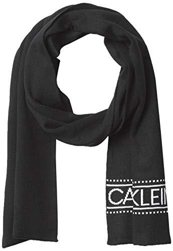 Calvin Klein Herren Logo Scarf Schal, Onyx, Einheitsgröße