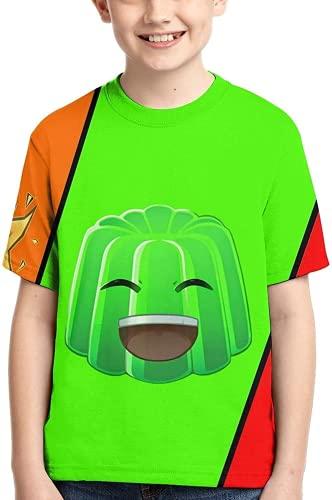 Amacigana Five Nights at Freddy's Camiseta de manga corta para niños y niñas, cuello redondo, divertida camiseta para adolescentes, niños y niñas, novedad impresa en 3D, A85., large