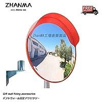 凸面鏡HD凸面鏡60センチメートルガレージミラー80センチメートル交差点ミラー100センチメートルミラー安全屋外ブラインドスポット補助駐車場、取付金具を送ります HuiGjj-0704 (Size : 75cm)