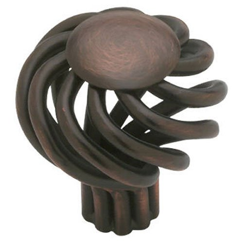 Liberty Hardware PN9011-VBR-C Small Wire Swirl Design Kitchen Cabinet Hardware Knob, Bronze With Copper Highlights