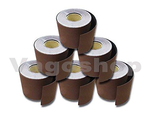 12x Set Schleifpapier 115mm Rollenschleifpapier je Korn 2 Schleifrollen 40-320