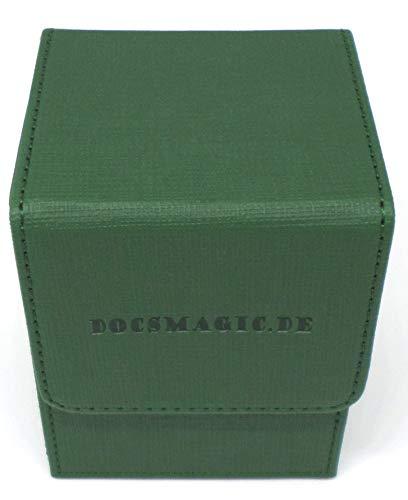 Docsmagic.de Premium Magnetic Flip Box (80) Dark Green + Deck Divider - MTG PKM YGO