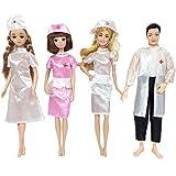 XCSW 4 Set Ropa de Dolls, Ropa de Muñeca de Muñecas Doctor, Ropa de Enfermera de Muñeca, Dolls Ropa Accesorios ,Accesorios para 11.5 Pulgadas Muñeca
