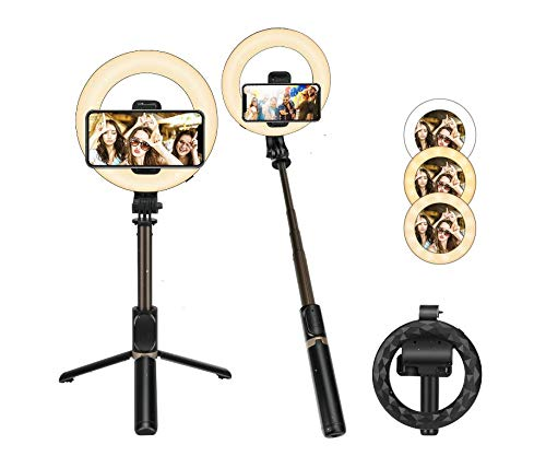 E-More Make-up Ring Licht Beauty Selfie Fotolicht Kit mit Ständer Super Bright LED Lampe für Fotografie YouTube Videos Streaming Instagram
