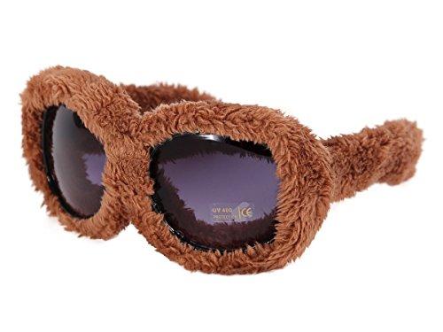 Alsino Plüschbrille Fun Brille Gagbrille Partybrille Apres-Ski Fasching Fellbrille 40, wählen:F-040 plüsch braun