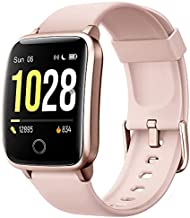 Willful Smart Watch, Watches for Men Women IP68 Waterproof Fitness Tracker with Steps Calories Counter Sleep Tracker (Pink)