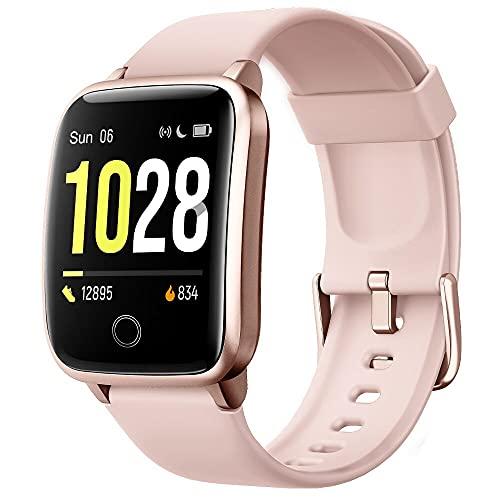 Willful Smartwatch,Pantalla de 1,3 Pulgadas Reloj Inteligente Impermeable IP68 con Pulsómetros para...