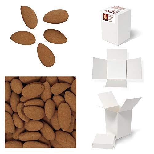 Bulk Gourmet Emporium, mandorle tostate ricoperte di cioccolato fondente e cacao in polvere, leggere, senza plastica, vegetariane e halal, frutta secca ricoperta di cioccolato, 400 g
