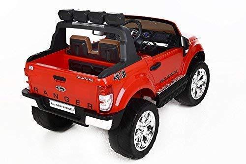 RC Auto kaufen Kinderauto Bild 6: RIRICAR Ford Ranger Wildtrak 4X4 LCD Luxury, Elektro Kinderfahrzeug, LCD-Bildschirm, rot - 2.4Ghz, 2 x 12V, 4 X Motor, Fernbedienung, 2-Sitze in Leder, Soft Eva Räder, Bluetooth*