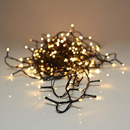 Lichterkette mit 80 LEDs warm weiß, für innen und außen