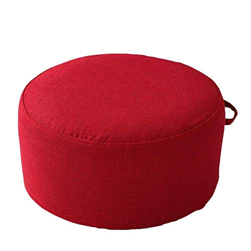 TAIDENG Inicio Round Pouf POSTSOOL, Sofa SOFO PIE Pieza Pieza Step Habilidad Light Peage EPE Filler NO FÁCIL DE FINILLO-B 40x40x30cm (Color : Red, Size : 40x40x30cm(16x16x12inch))