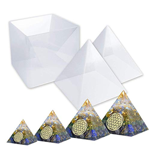 Chaunce Große Harzformen Let's Resin Pyramid Formen, Harz Silikonformen für DIY Orgonite Orgon Pyramide, Orgonite Schmuck, ideal für Briefbeschwerer, Home Decoration
