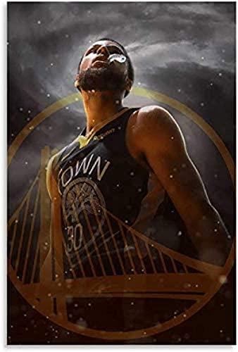 DCPPCPD Lienzo Posters 30 * 50cm Sin Marco Stephen Curry Sports Basketball Super para decoración de Dormitorio Póster